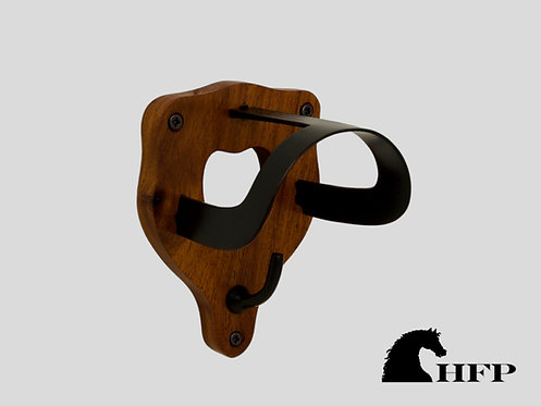 Brass and wood Bridle Bracket