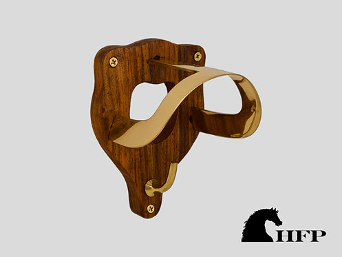 Wood and Brass Bridle Bracket