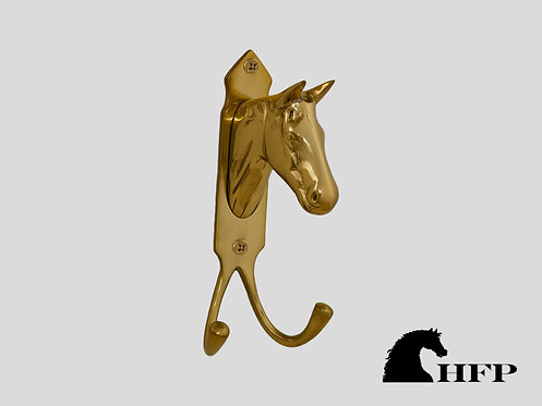 Brass Horsehead Hook with Two Hooks