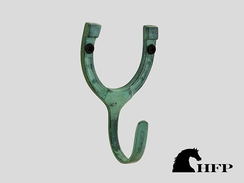 Green Patina Horseshoe Hook
