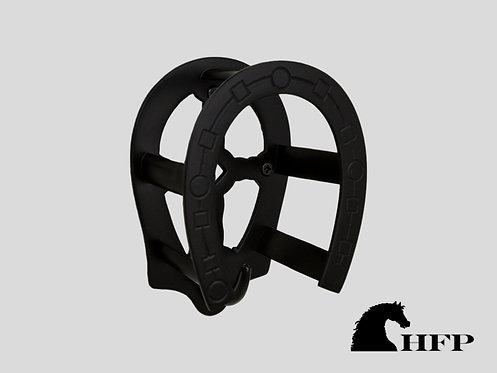 Brass Horseshoe Bridle Bracket- Black