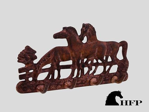 Brown Patina Horse Rack