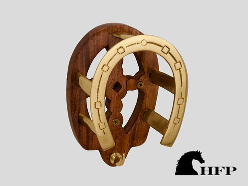 Brass Horseshoe Bridle Bracket- Wood & Brass