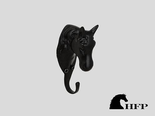 Brass Horsehead Hook- Black