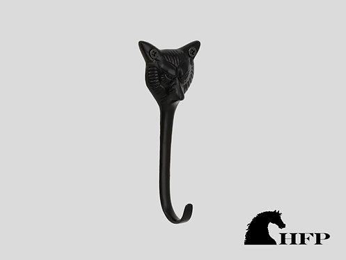 Brass Foxhead Hook- Black