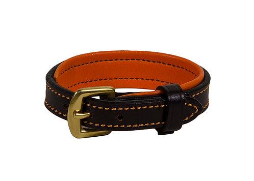 orange padded bracelet