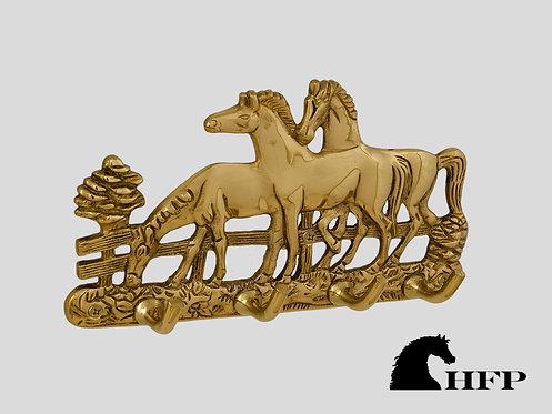 Brass Horse Rack