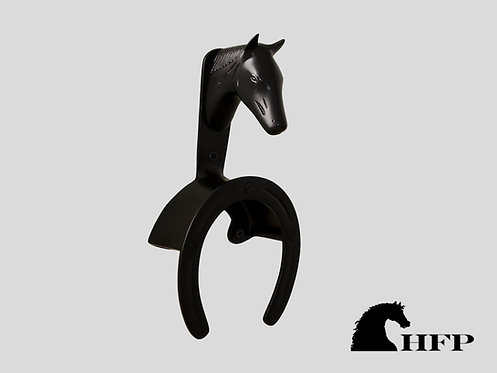 Brass Horsehead Bridle Bracket- Black