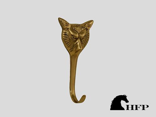 Brass Foxhead Hook