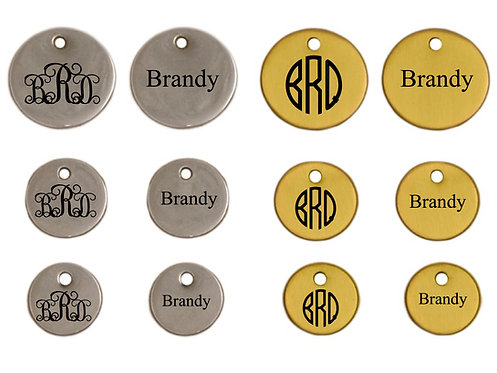 Round Tag- TWO Sided