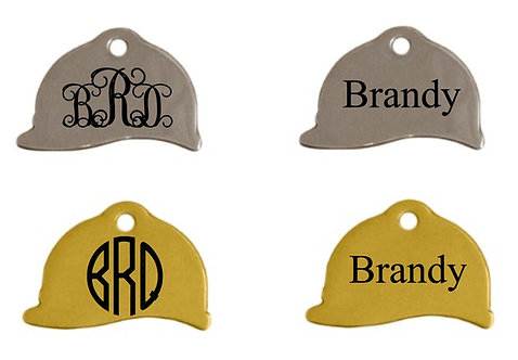 Riding Helmet Tag- TWO Sided