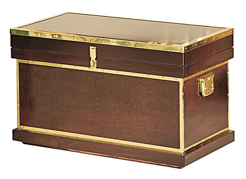Deluxe Wood Trimmed Tack Trunk