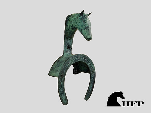 Green Patina Horsehead Bridle Bracket