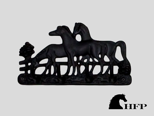 Brass Horse Rack- Black