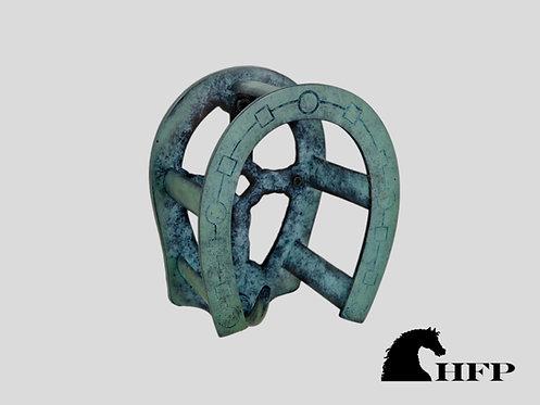 Brass Horseshoe Bridle Bracket- Green Patina