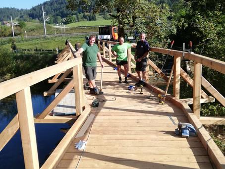 🚴♀️ Erneuerung Radbrücke Kainisch