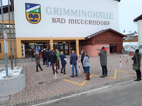 Die freiwilligen Testungen in der Grimminghalle haben begonnen!