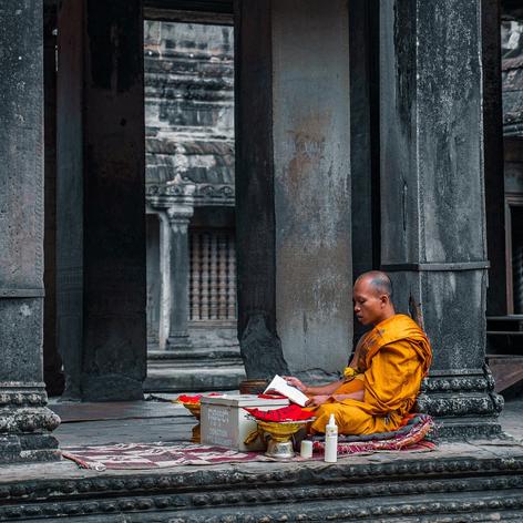 Kathmandou. Au détour d'une rue.