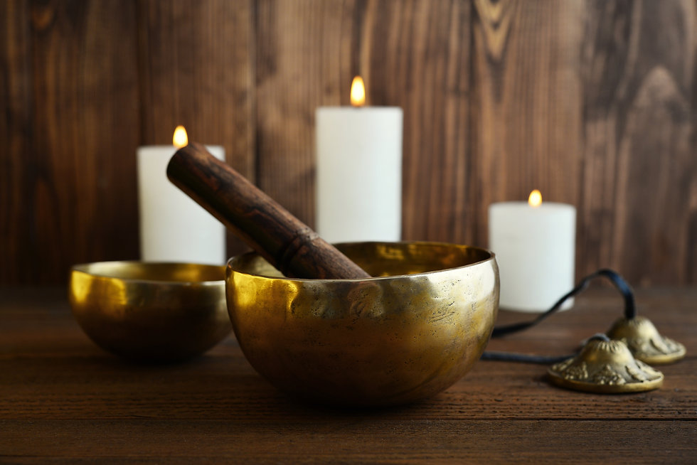 Tibetan handcrafted singing bowls with s