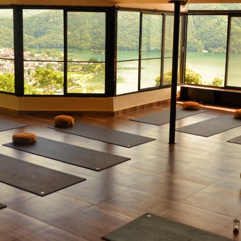 le hall de yoga. Magique