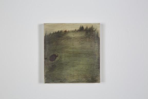Ce qui se cache sous la surface, Techniques mixtes sur bois, 11.5x12.4x2cm, avril 2018
