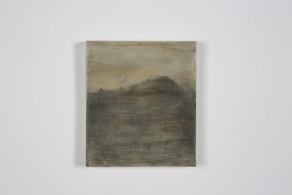 Fine China, crayons gras sur bois, 11.2x12.8x2 cm, mars 2018
