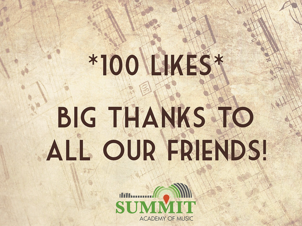 100 likes on facebook thanks to our friends