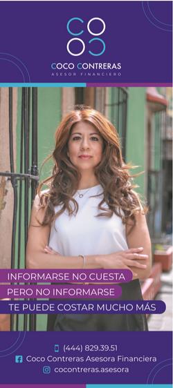 Coco Contreras, asesora financiera