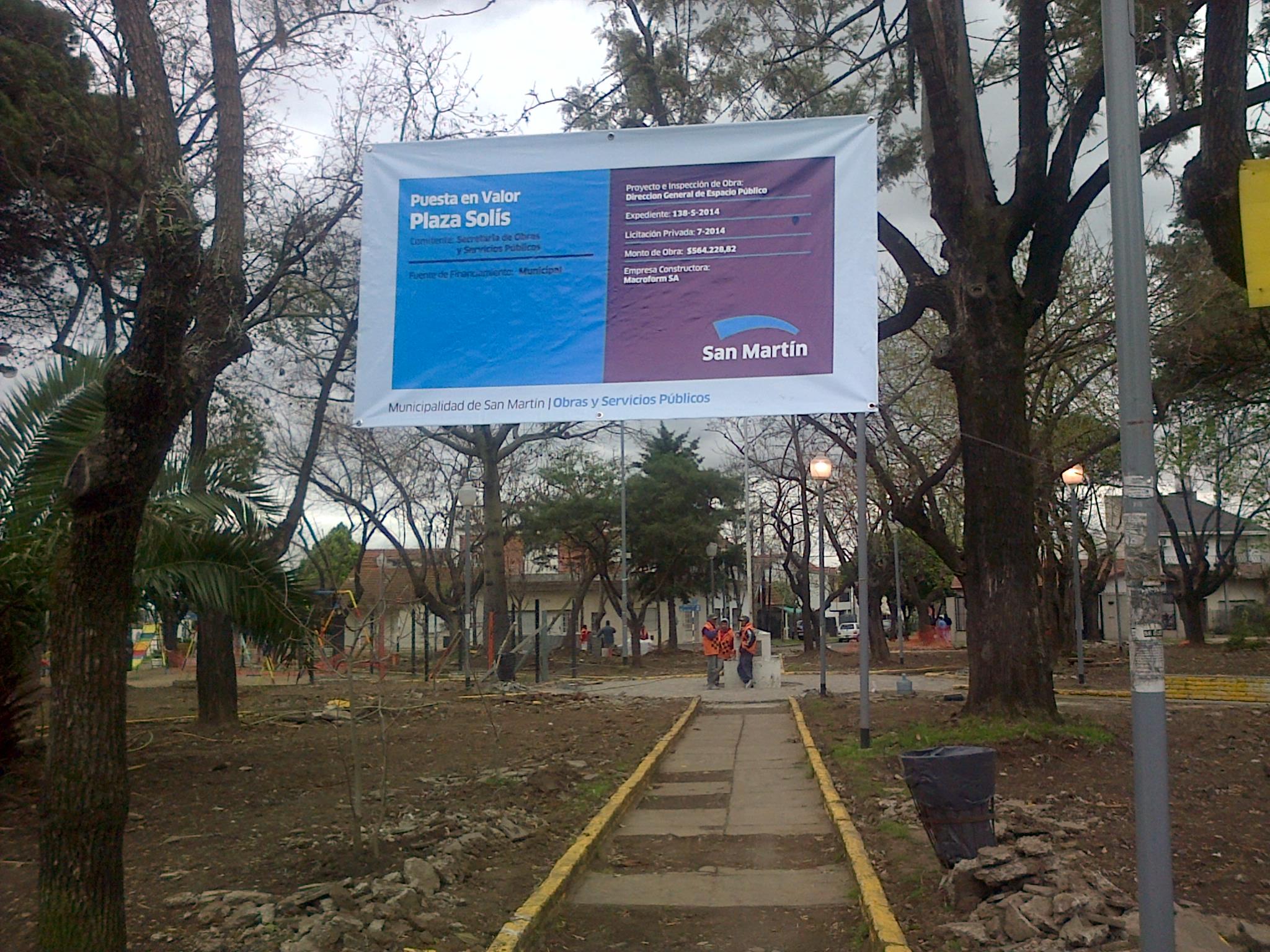 Obra Plaza Solis