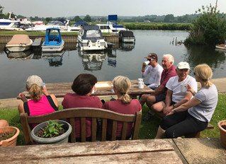Sunday at the boat club...