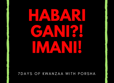 7 days of Kwanzaa: Imani