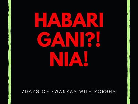 7 Days of Kwanzaa: Nia