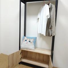 角鋼衣櫃+開門底櫃