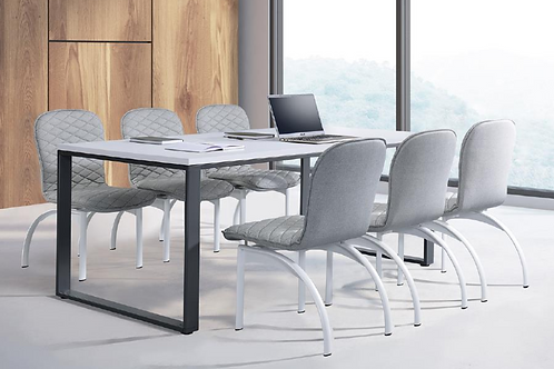 辦公會議桌-OT工業風口字腳會議桌(尺寸訂做、貼皮可選)