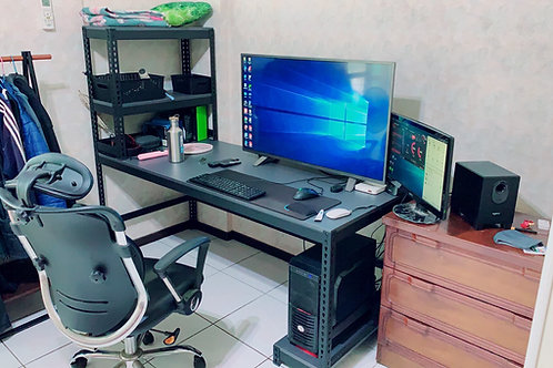 角鋼電腦桌訂做W180D75H75(尺寸可訂做,含安裝)