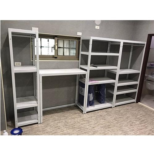DIY象牙白角鋼衣櫃層架組(尺寸可訂做,貼皮可選)