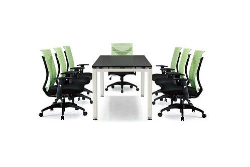 方管會議桌(尺寸訂做,貼皮可選4色)