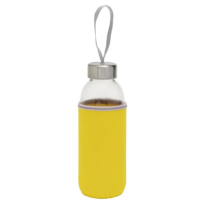 Bouteille en verre avec gaine de protection