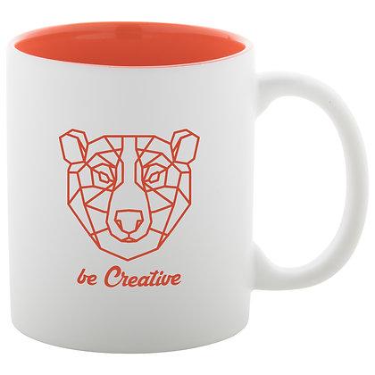 Mug en céramique blanche avec intérieur coloré