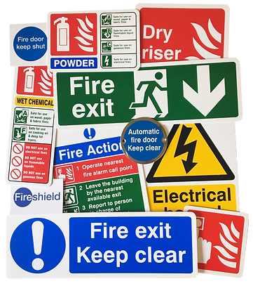 Fireshield Health and Fire Safety signs