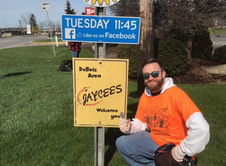 DuBois Jaycees update local sign