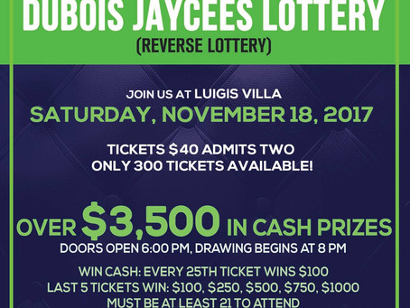 2017 Reverse Lottery - Please join us!