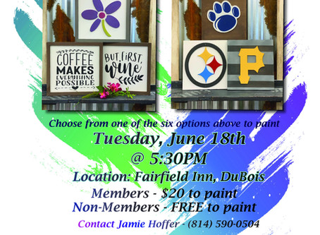 """Jaycees """"New Member Night"""" Offers Fun in the Form of Pizza & Painting"""