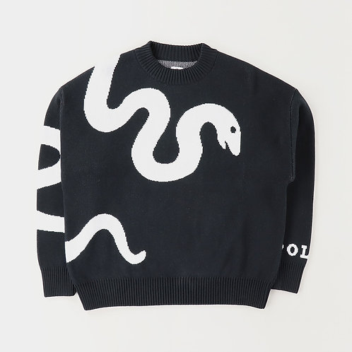 Polar knit sweater snake