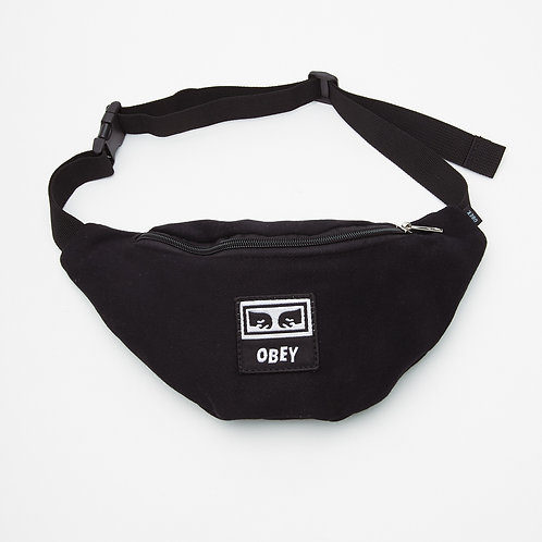 Wasted Hip Bag Black twill