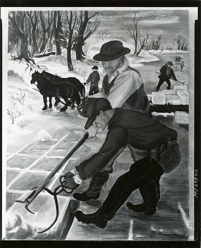 Painting by Dahlov Ipcar. 1938 from the Smithsonian Photographs Archive