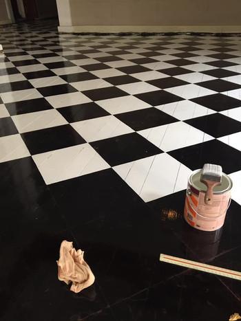 Starting the white squares.jpg