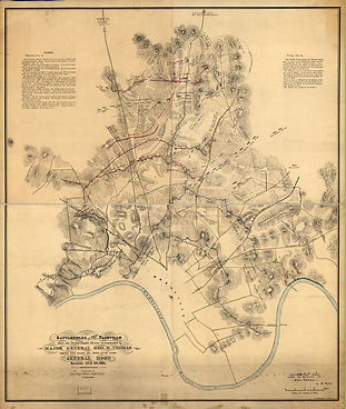 Map of the Battle of Nashville