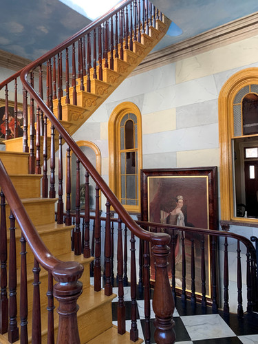 Second Floor Gallery & portrait of Queen Victoria