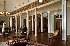 Grand Salon with Restored Stair hall - A